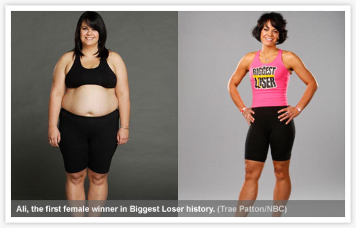 Ali the first female winner of Biggest Loser