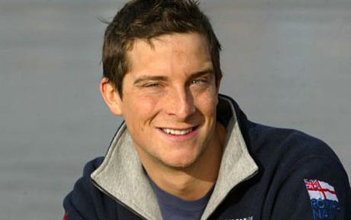 'Bear' Grylls - is he as tough as Ray Mears?  No but some might suggest he's better looking.