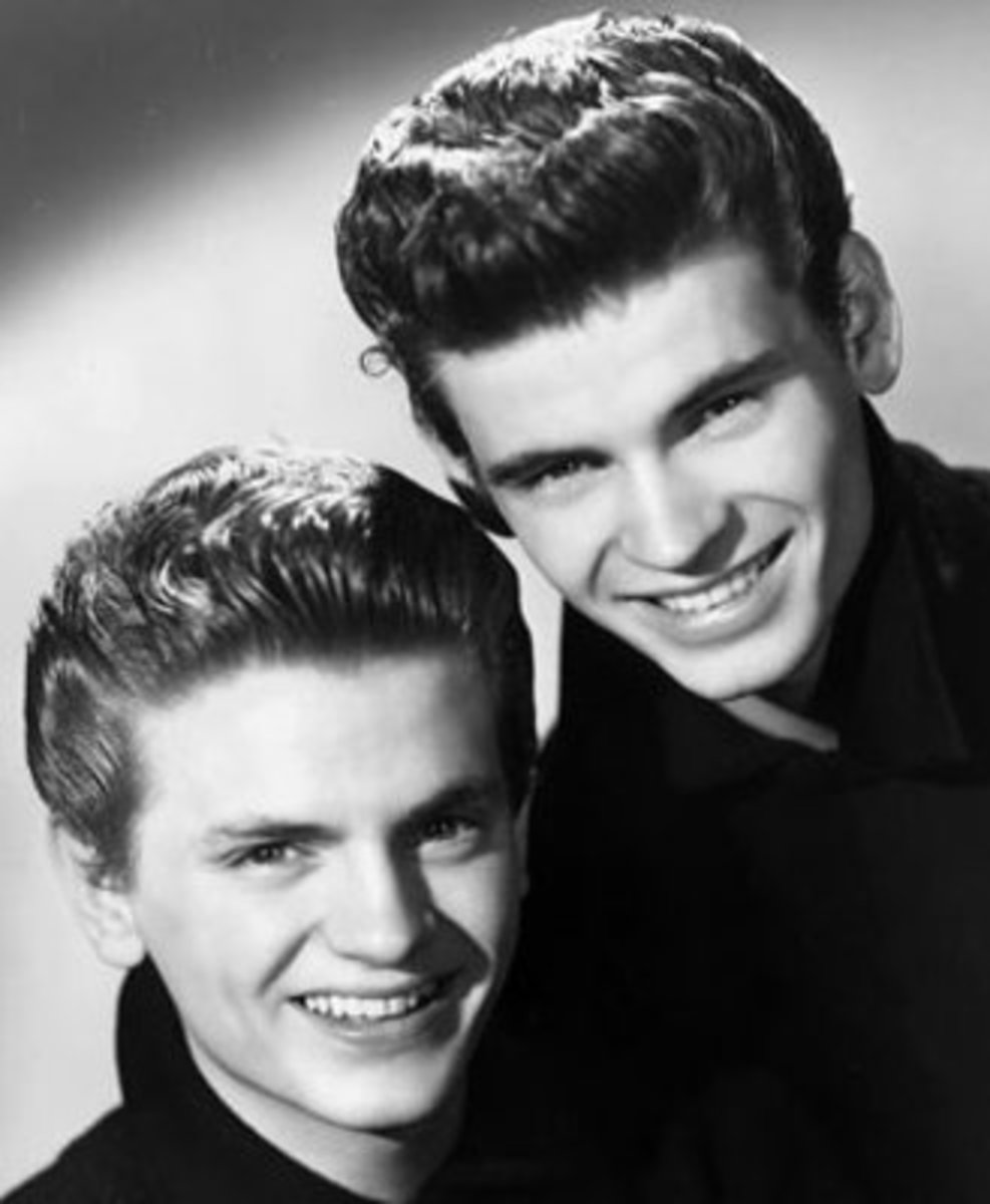 "1958 promo photo of The Everly Brothers. They recorded the 1958 #1 hit ""All I Have to Do Is Dream""."