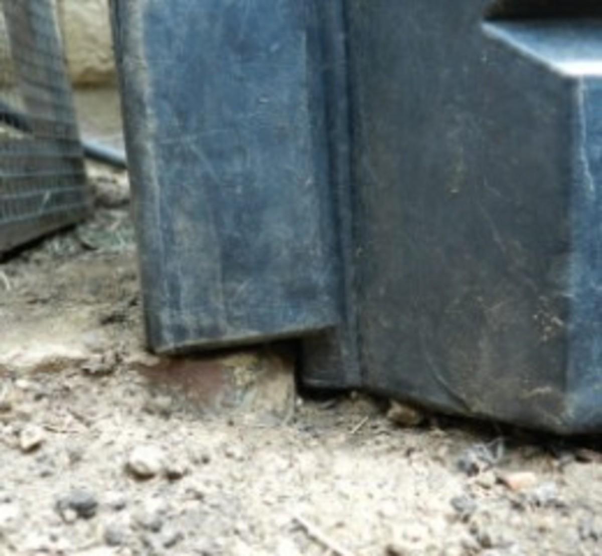 Bottom of GG compost bin