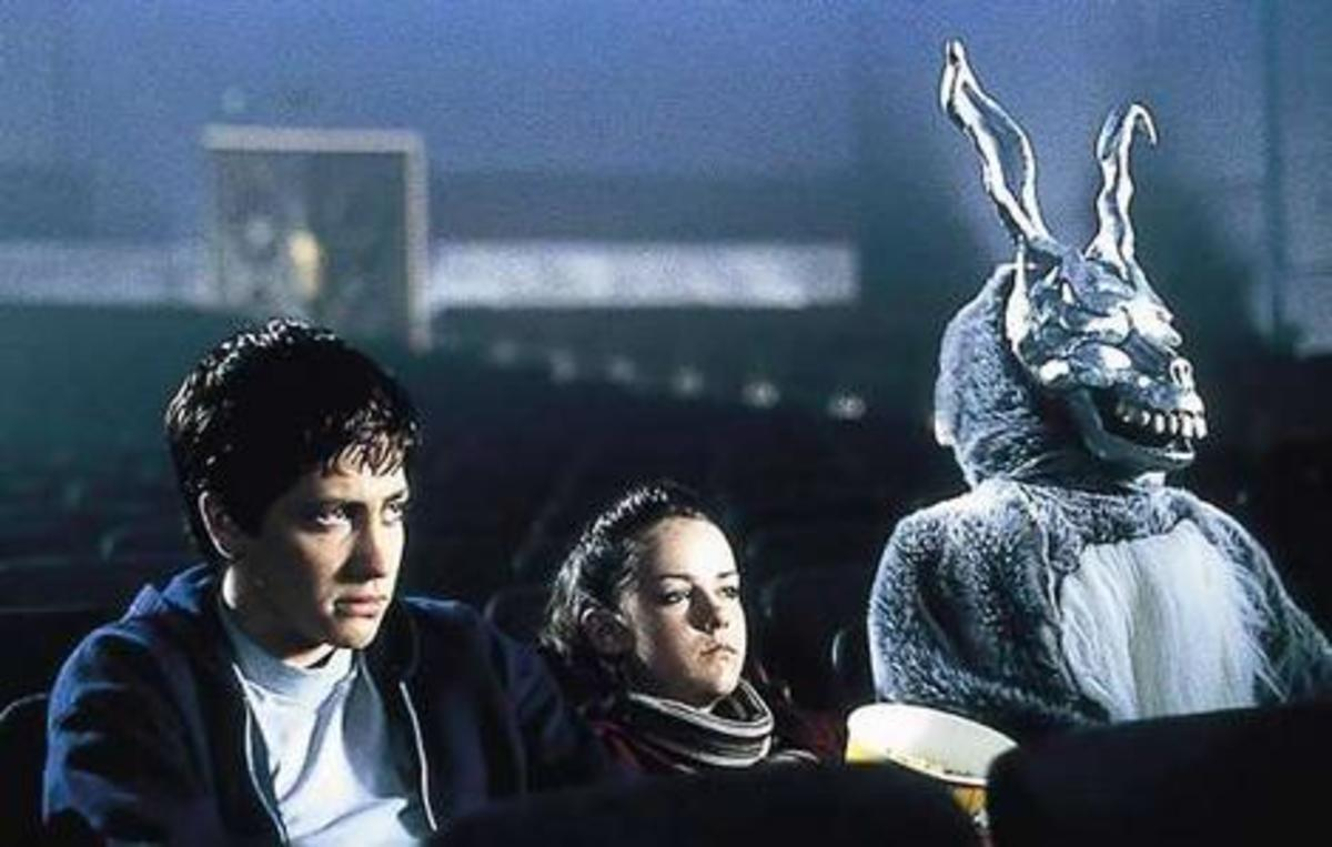 Don't be alarmed that your new boyfriend's imaginary 7 foot tall bunny friend is sitting right next to you! A touch of humor in Donnie Darko.