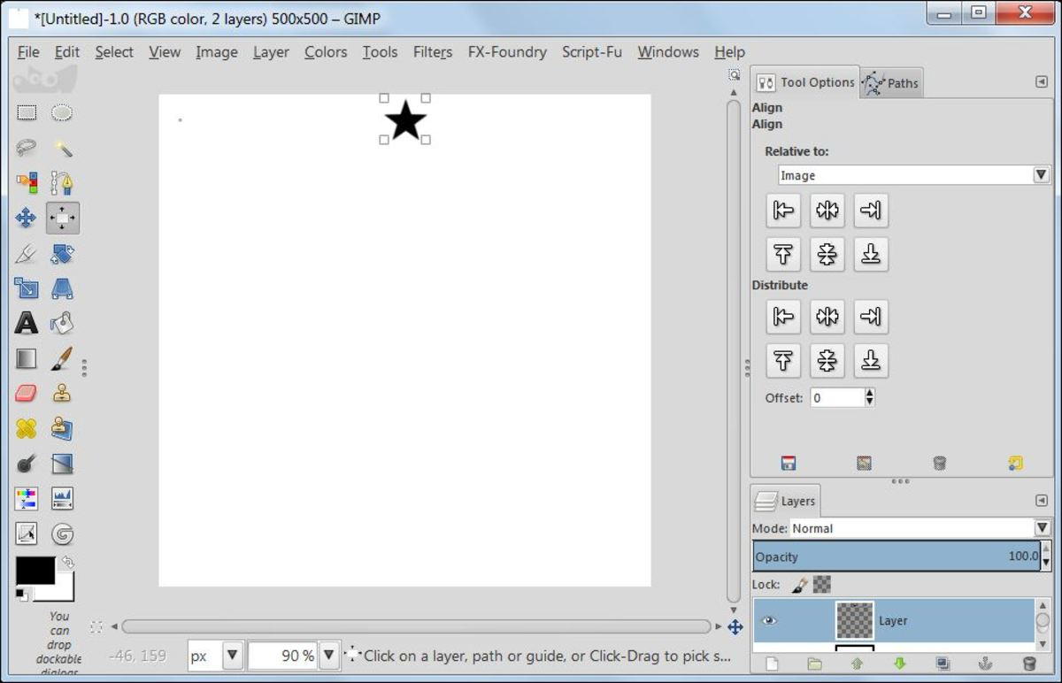 Fig. 7  Making a star brush in GIMP 2.8