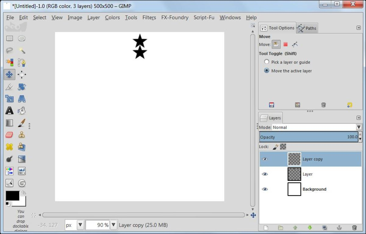 Fig. 8  Making a star brush in GIMP 2.8