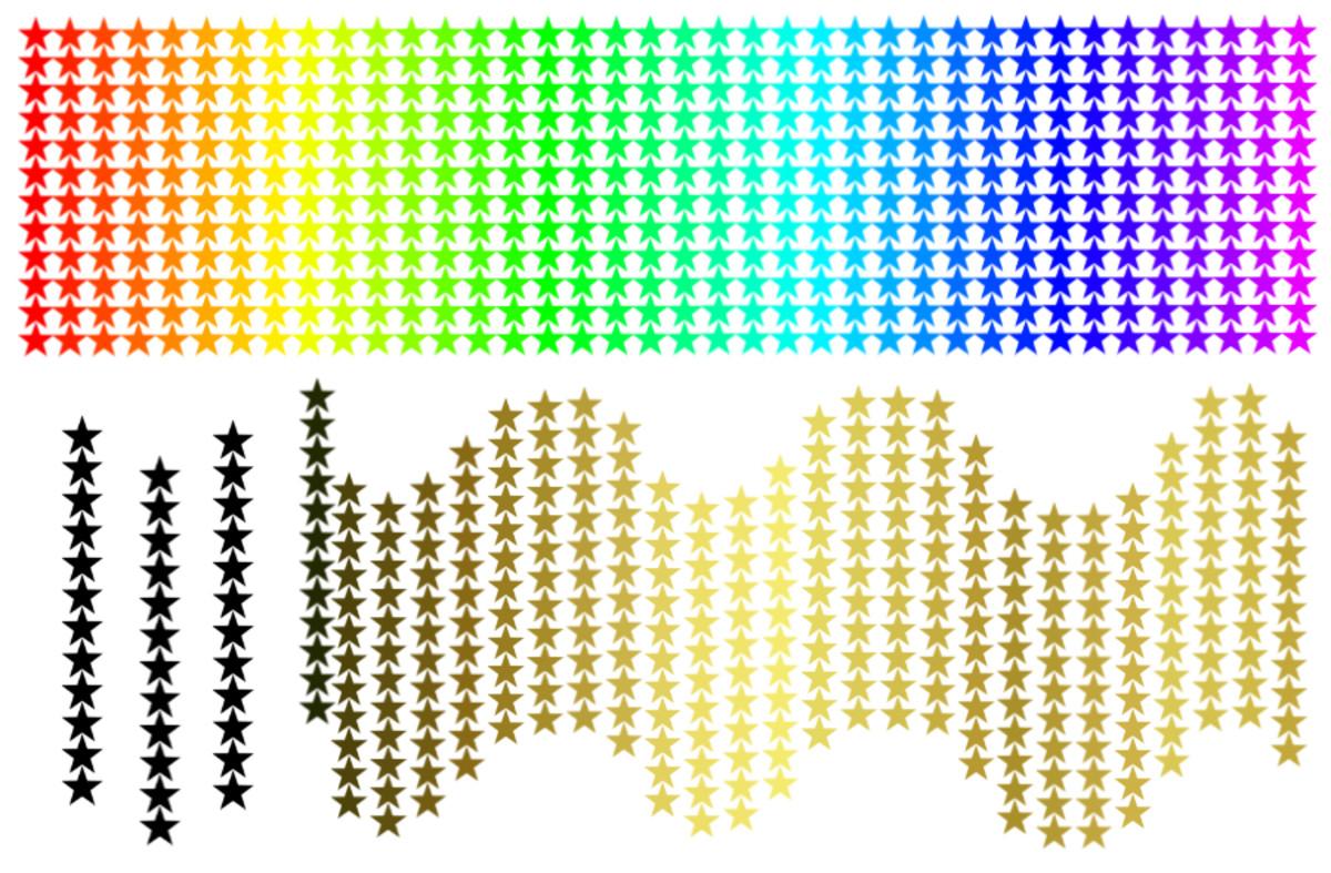 Star brush created in GIMP 2.8