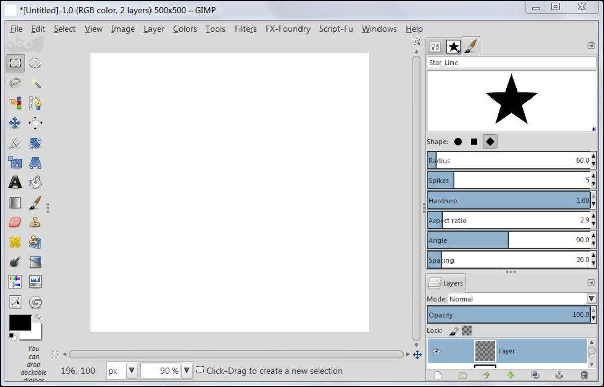 how to make diamond shape photo inlay in gimp