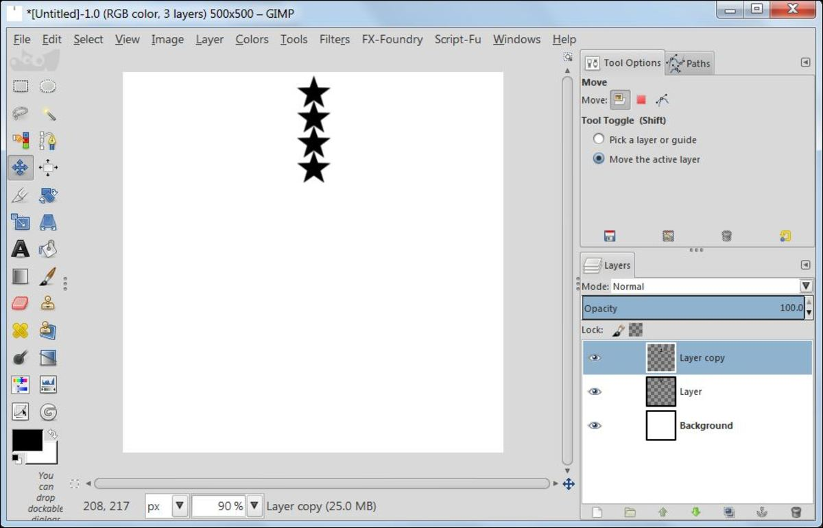 Fig. 9  Making a star brush in GIMP 2.8