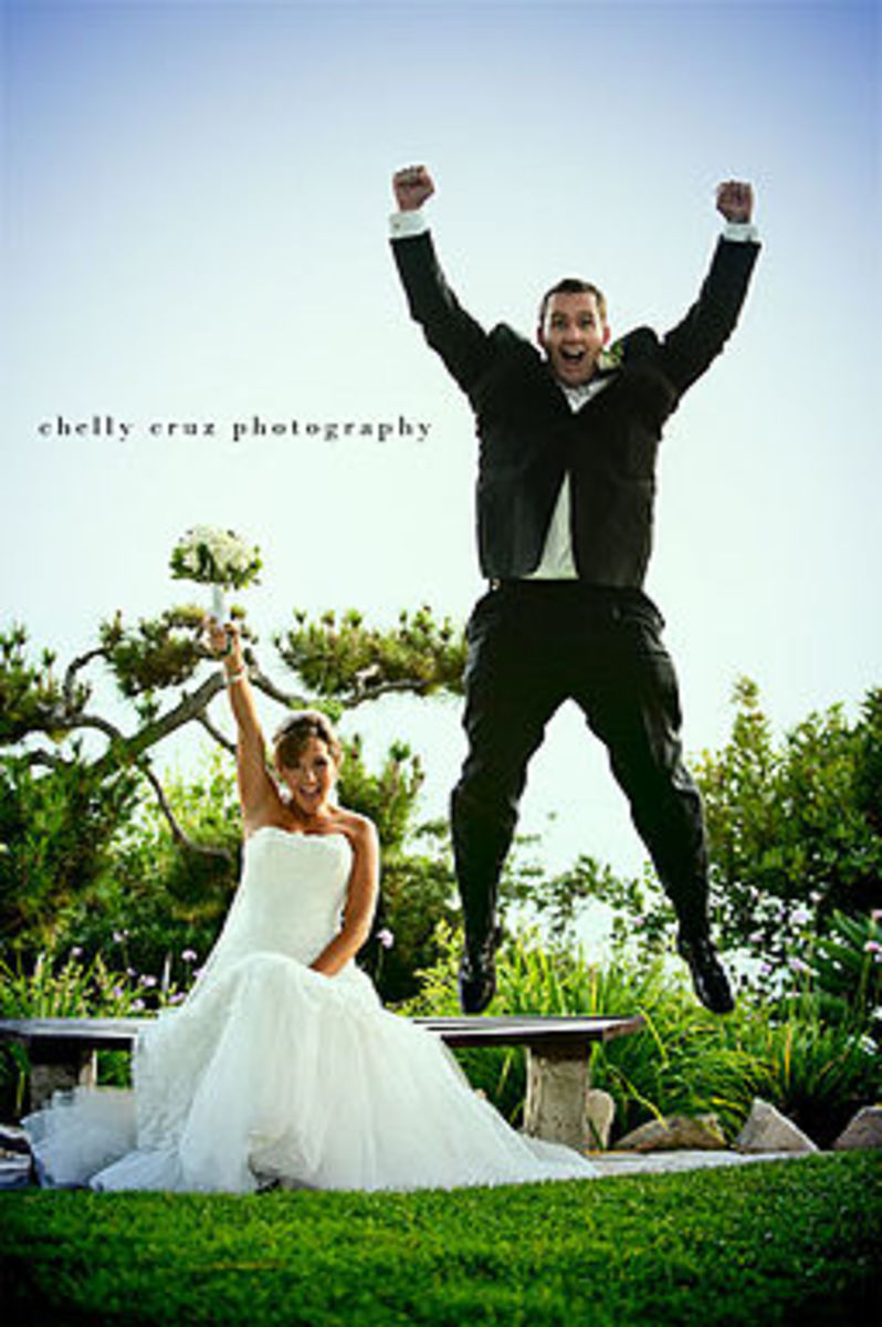 These newly weds sure look excited, but will it last?