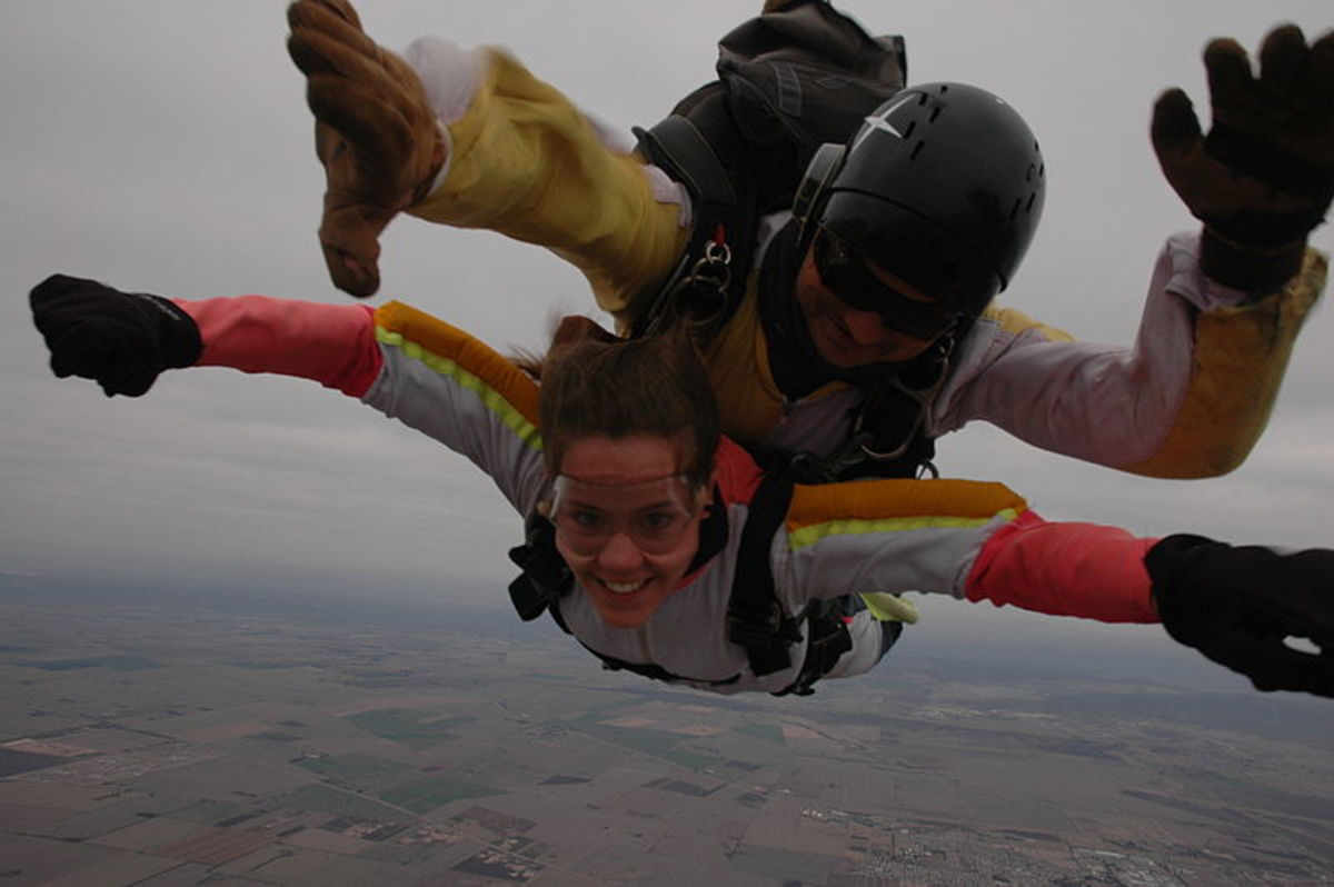 Starting a relationship with someone is as risky as sky diving--but if you can manage to land safely, the reward makes it worth the risk.