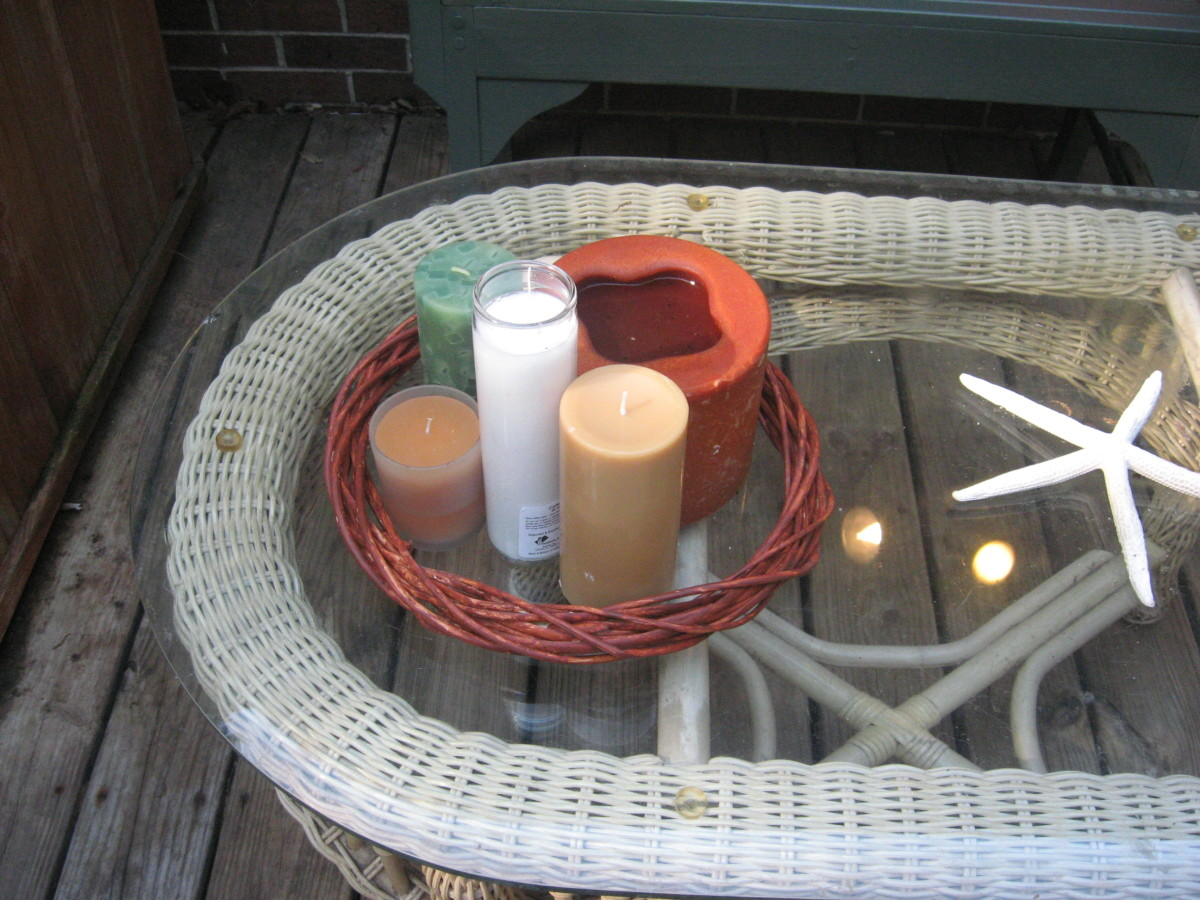 I used the stained willow wreath in my candle grouping.