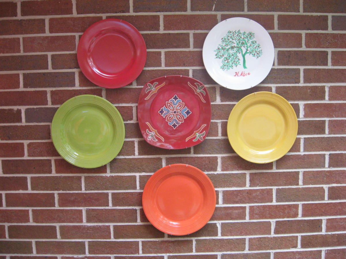cheap decorating with plates