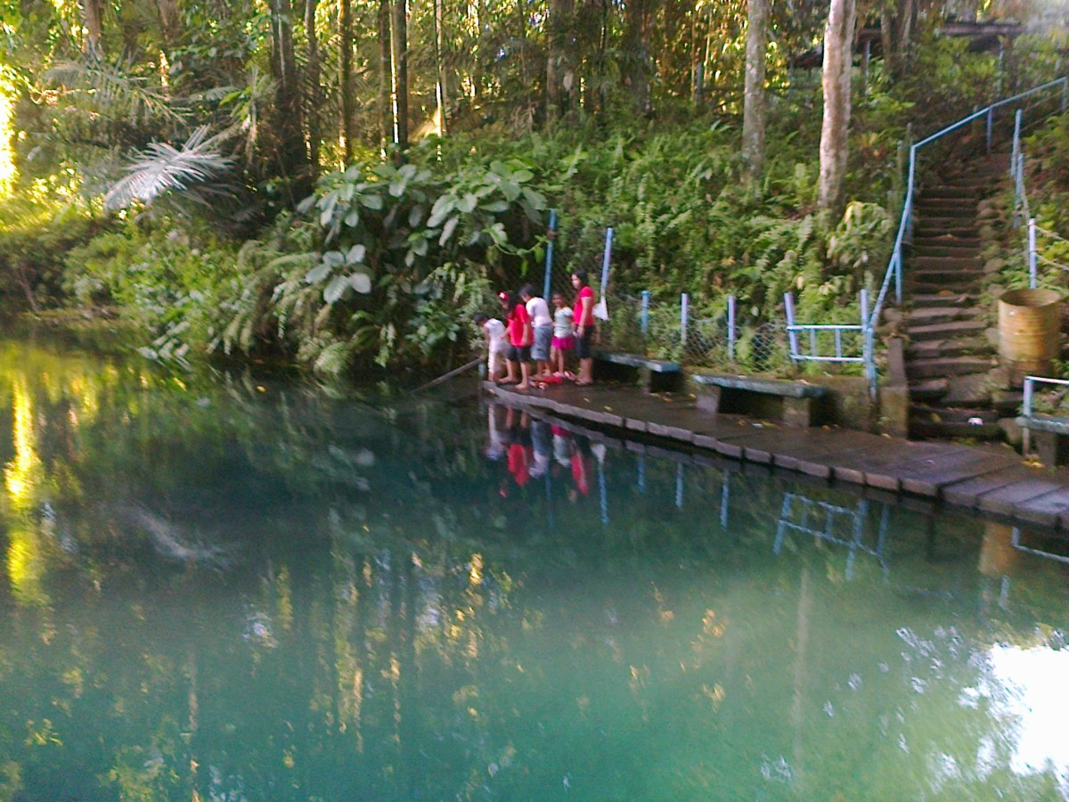 The green waters of Nasuli Spring Lagoon