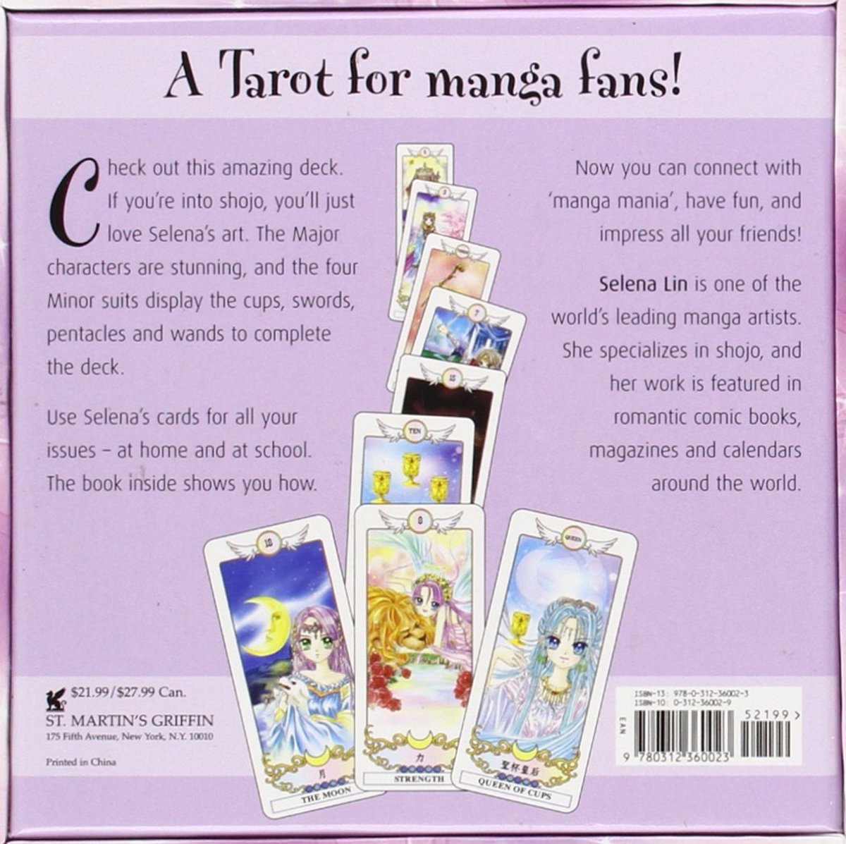 The Manga Tarot Cards deck by Selena Lin is a great gift choice for manga fans who also love the tarot