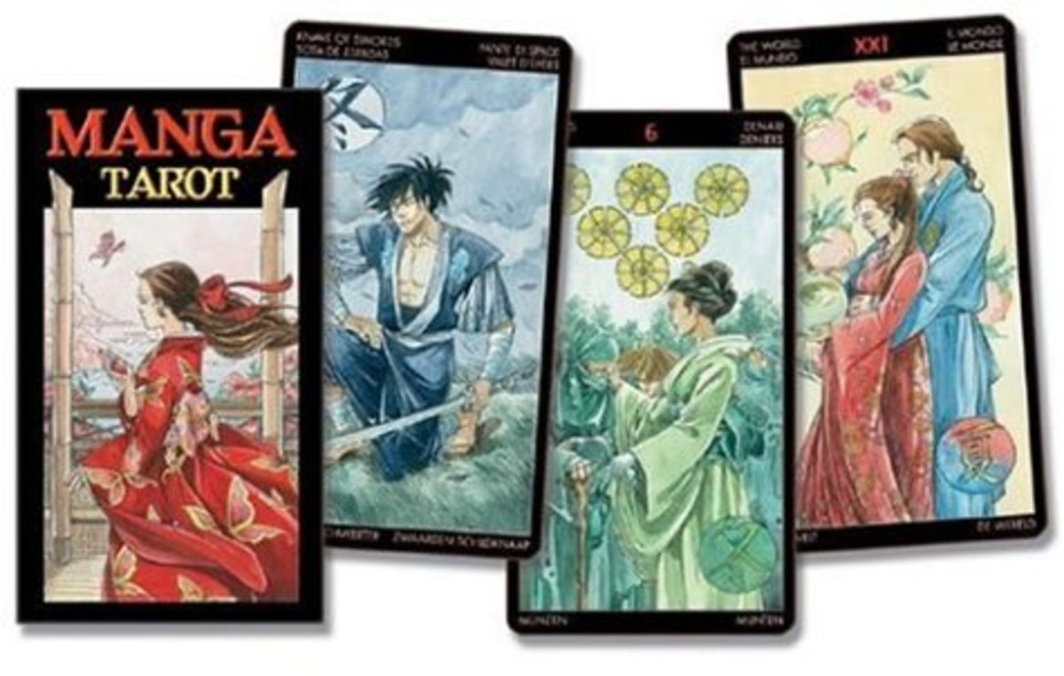 Isn't the artwork of the Manga Tarot deck just lovely?