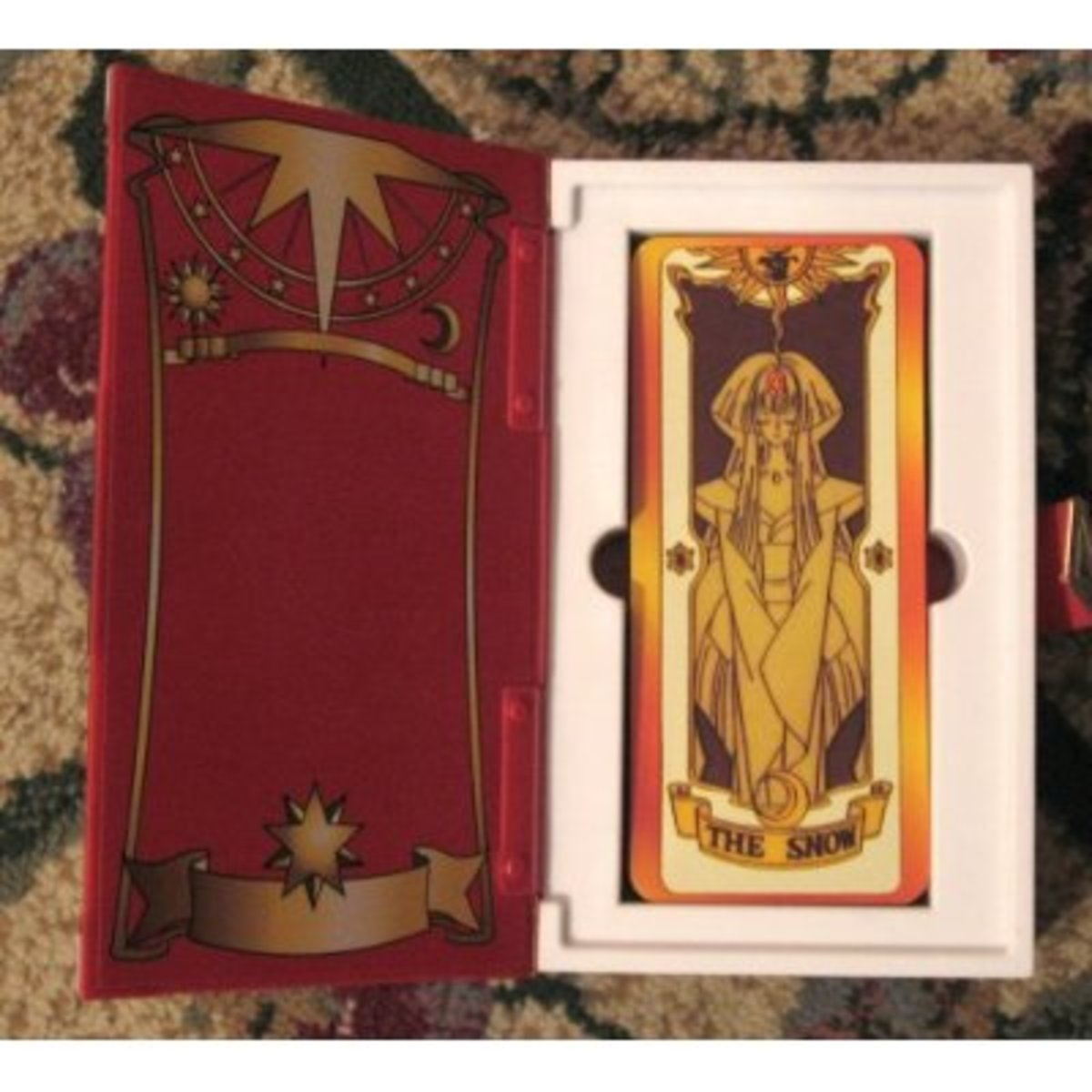 Feel like Card Captor Sakura herself with your own copy of the Clow Cards and the Clow Book. Now all you need is a copy of Sakura's star staff