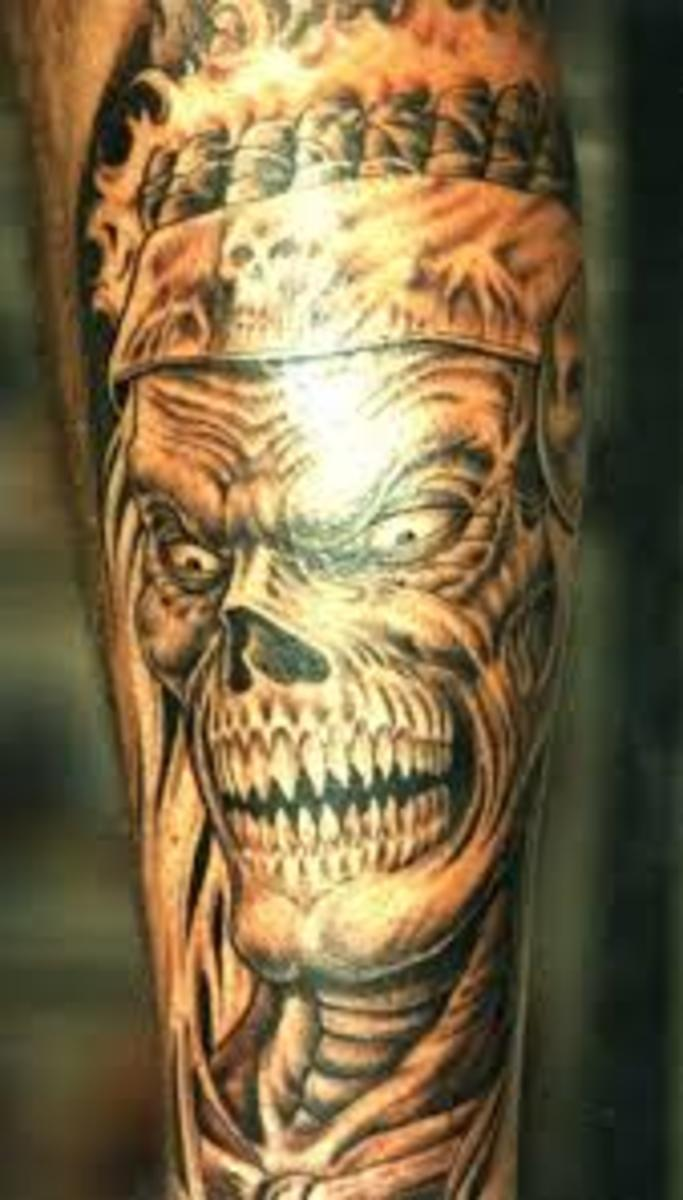 Skeleton Tattoos And Designs-Skeleton Tattoo Meanings And Ideas-Skeleton Tattoo Pictures