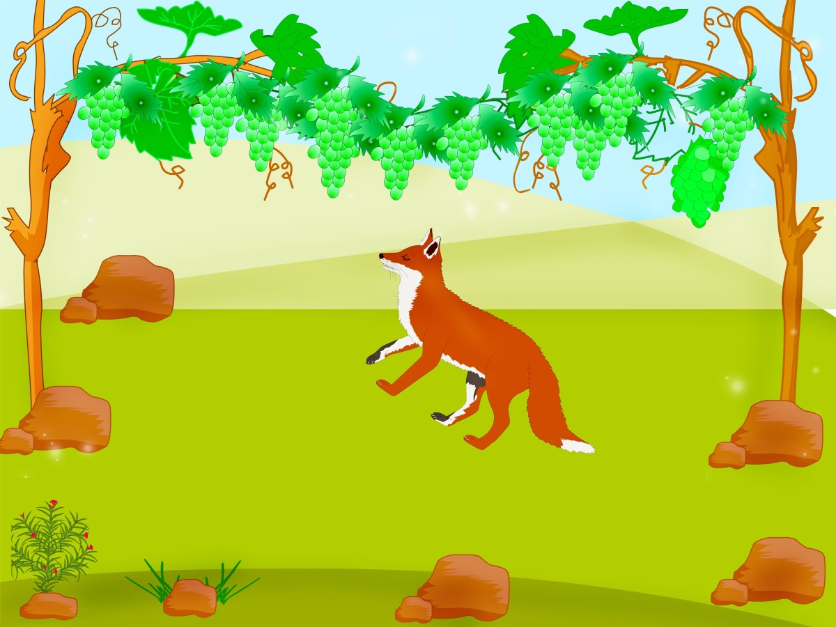 The fox and the sour grapes story - a short story for kids and everyone