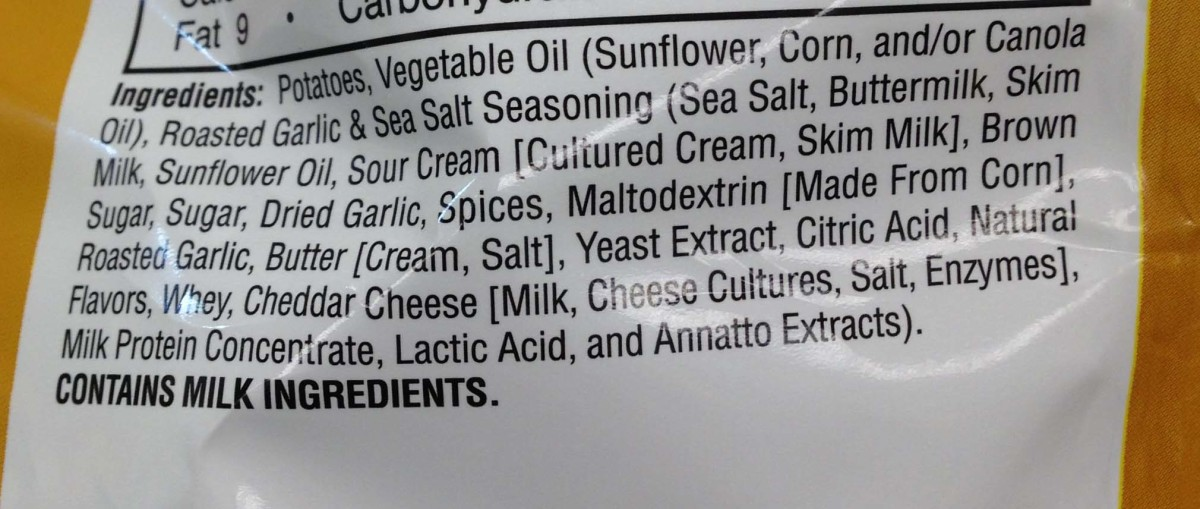 Complete list of ingredients