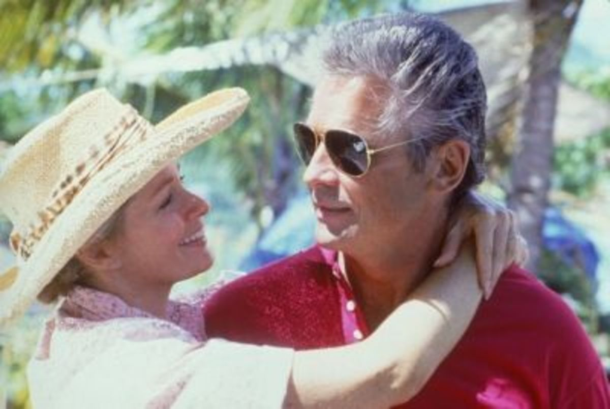 "Deidre Hall and James Brolin as Muff and Mac Graham in the movie ""And The Sea Will Tell"""