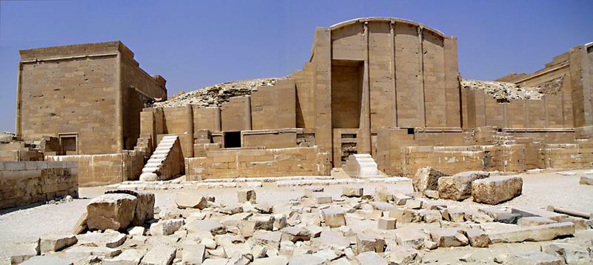 The Heb Sed Ritual Courtyard and buildings in the Saqqara complex