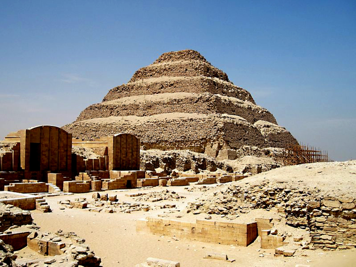 The Step Pyramid - the oldest monumental building in the world - testament to the work of the first great genius of architecture