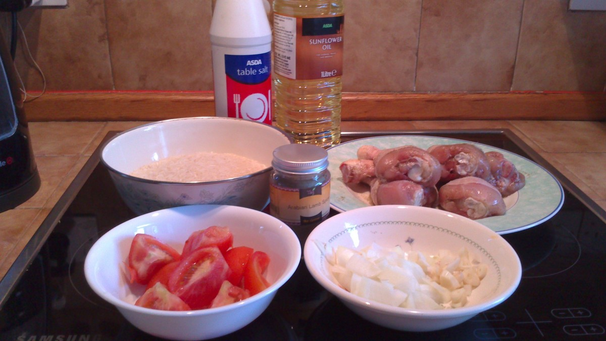Ingredients for Machobos Diyay - Chicken stew(Kuwaiti recipe)