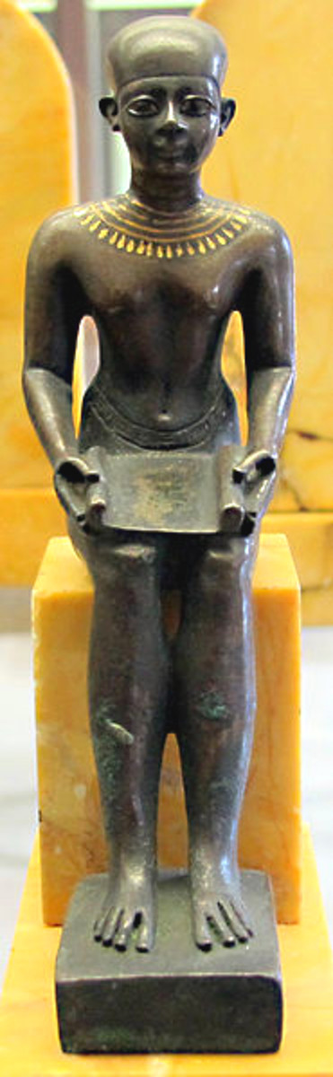 A statuette of Imhotep which resides in the Cabinet des Médailles in Paris