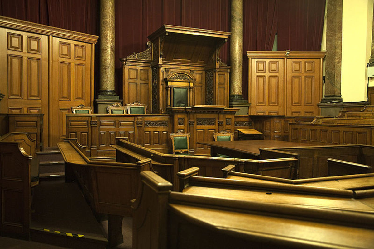 An original Victorian courtroom