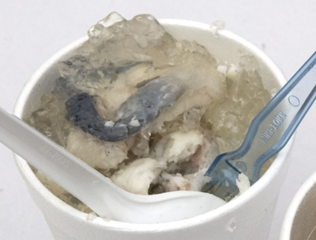 Portion of jellied eels