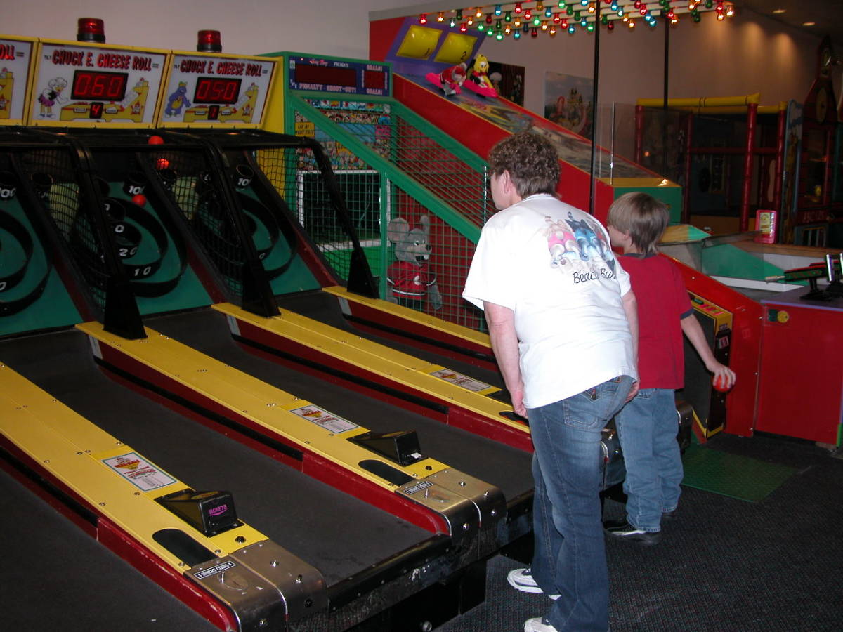 Skeeball At Chuck E Cheese