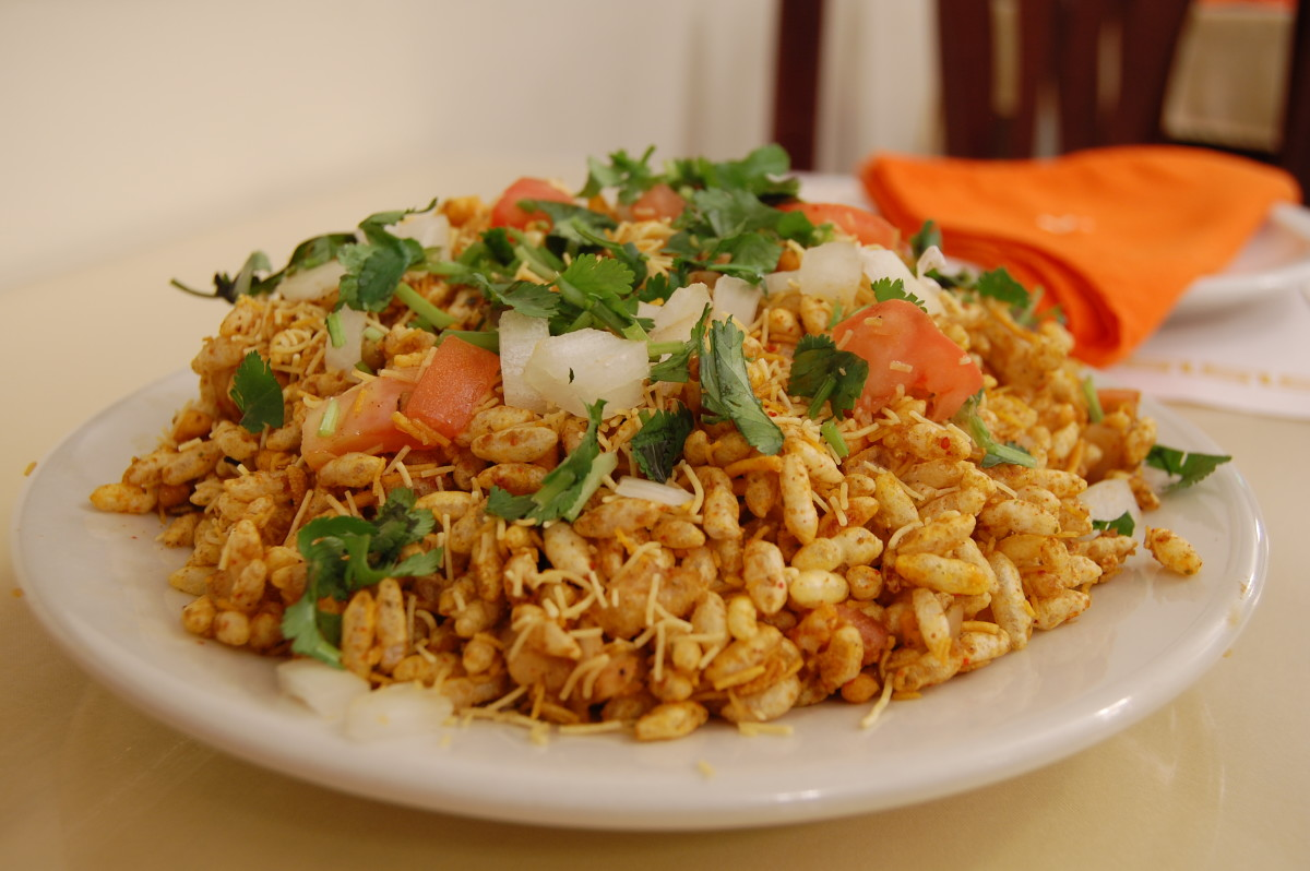 prepared bhel puri also simply called bhel