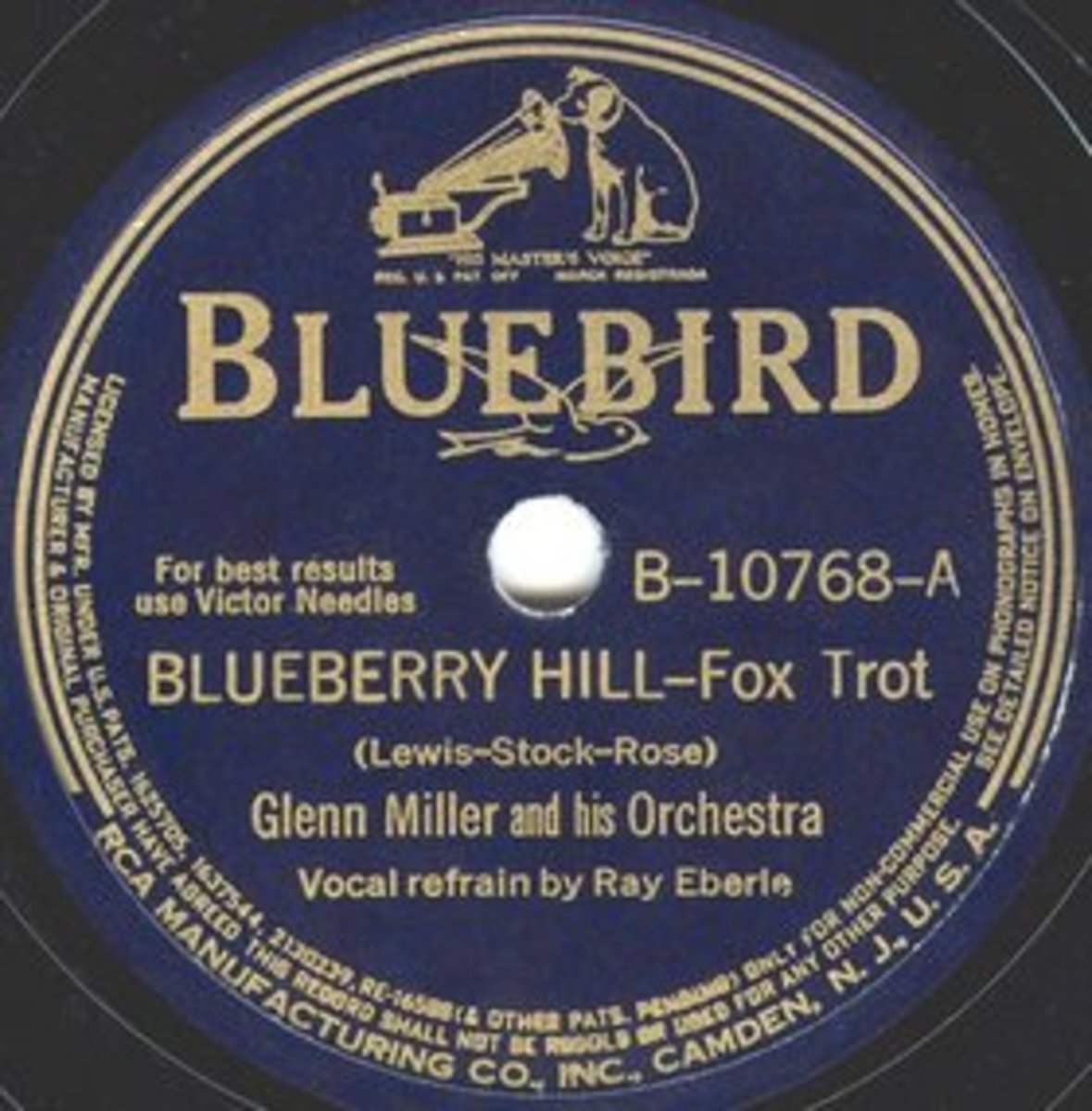 Glen Miller's LP Blueberry Hill