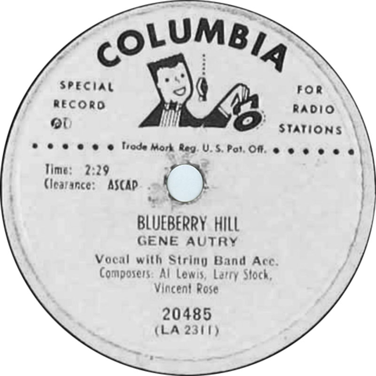 Gene Autry's LP of Blueberry Hill