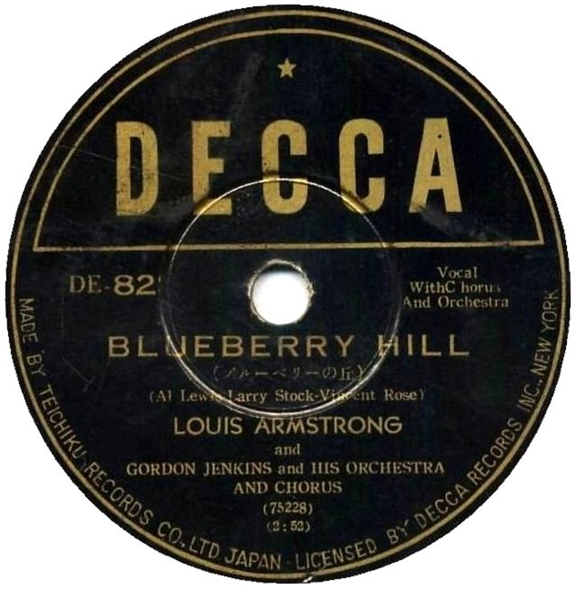 Louis Armstrong with Gordon Jenkins Orchestra- blueberry hill LP