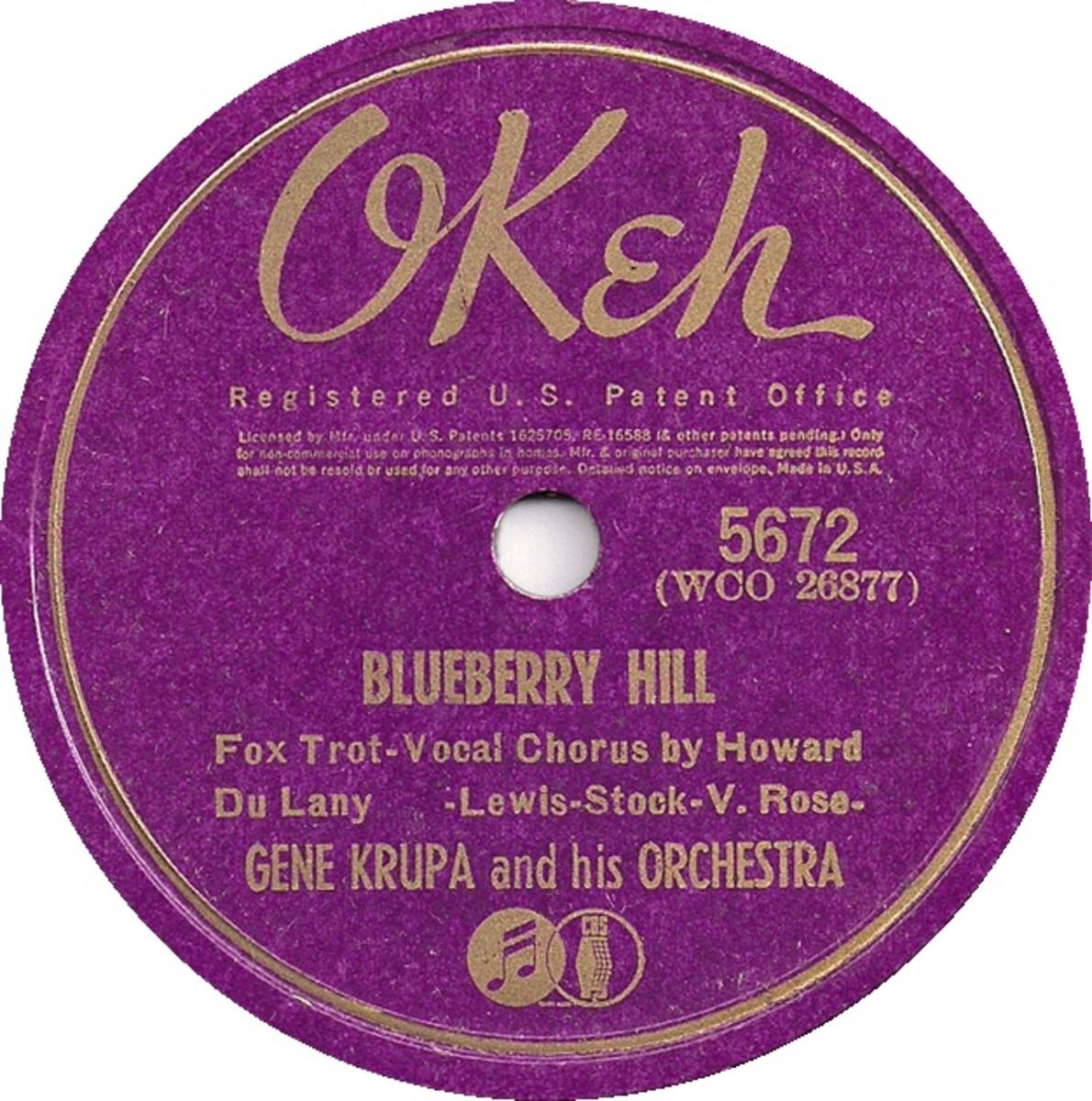 Gene Krupa LP of Blueberry Hill
