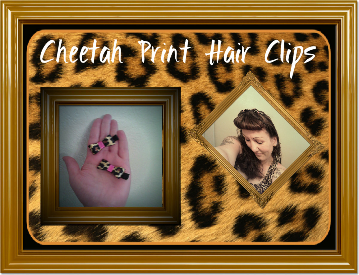 Cheetah Print Hair Bows.