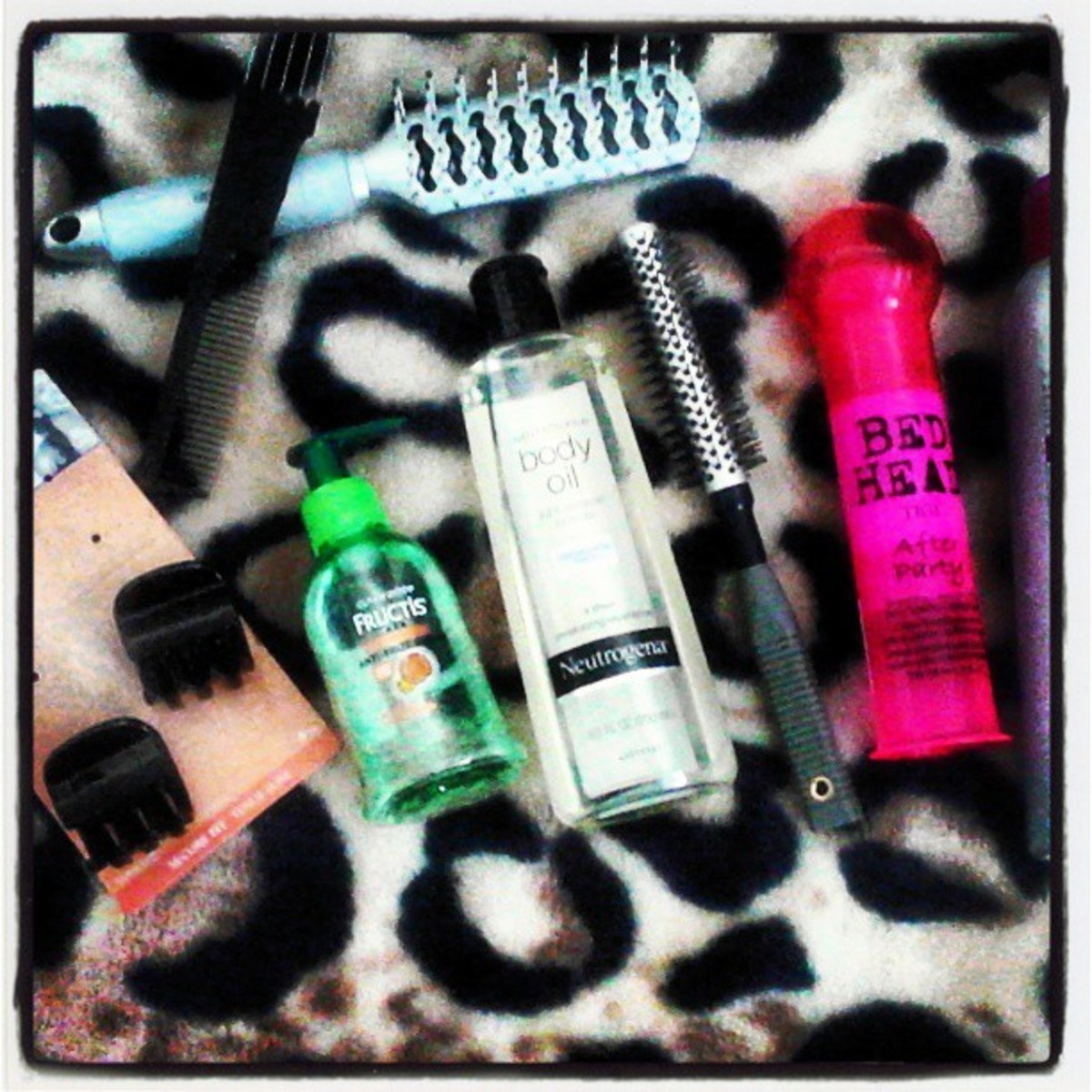 These are a few of the products I use on my hair daily.