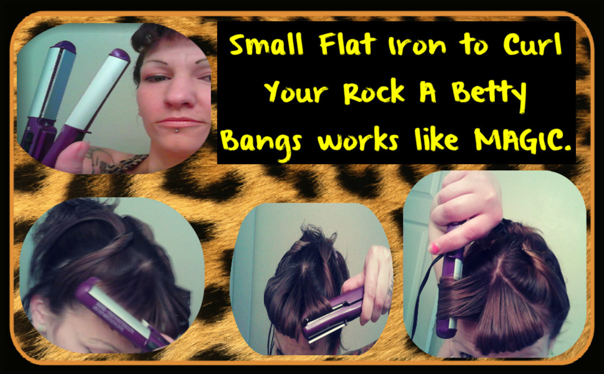 How to Style Your Bangs Style Your Rock a Betty Bangs