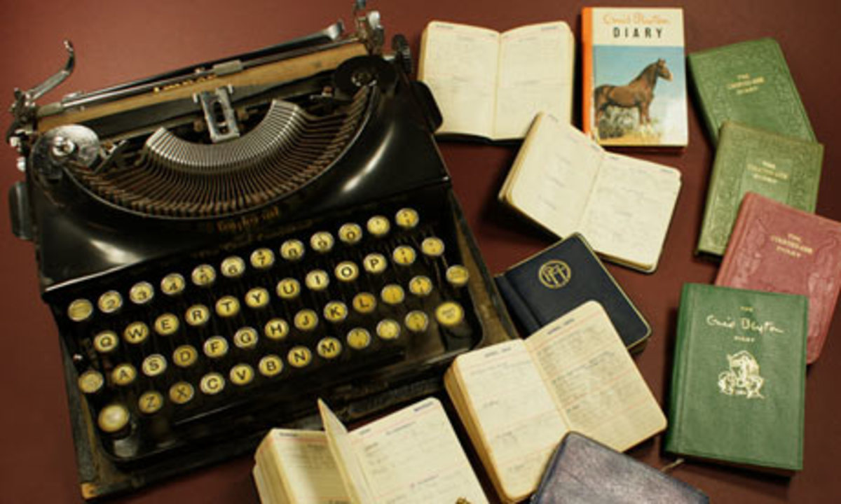 Enid Blyton's Type Writers and Diaries