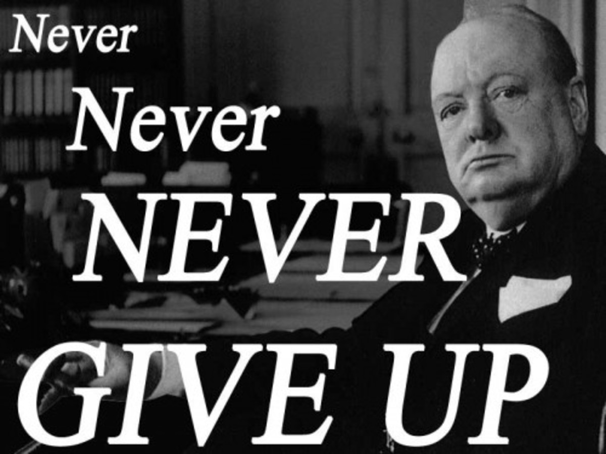 Sir Winston Churchill   Never Give Up