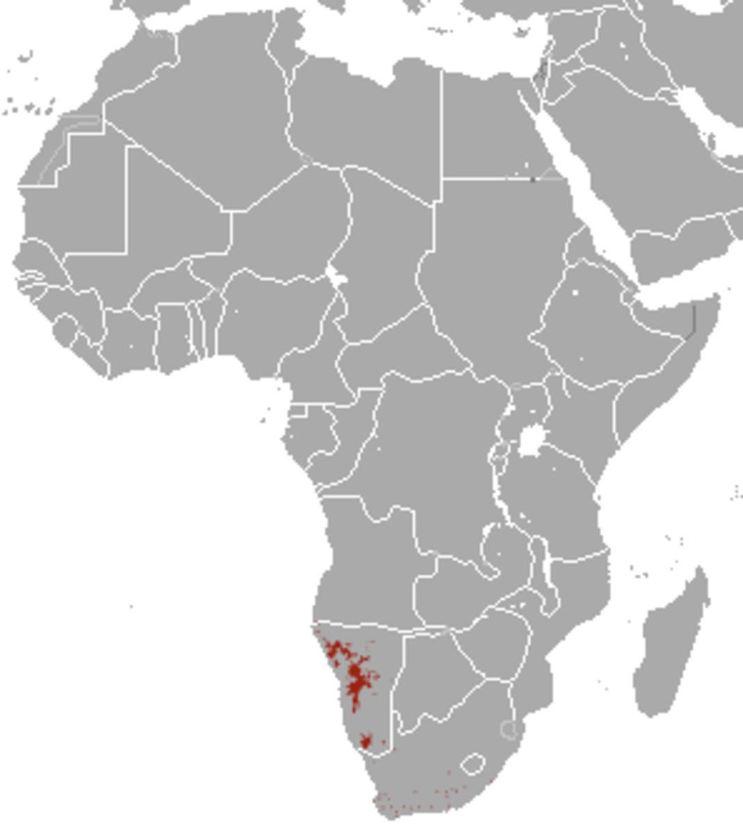 The range of the mountain zebra is much more restricted.