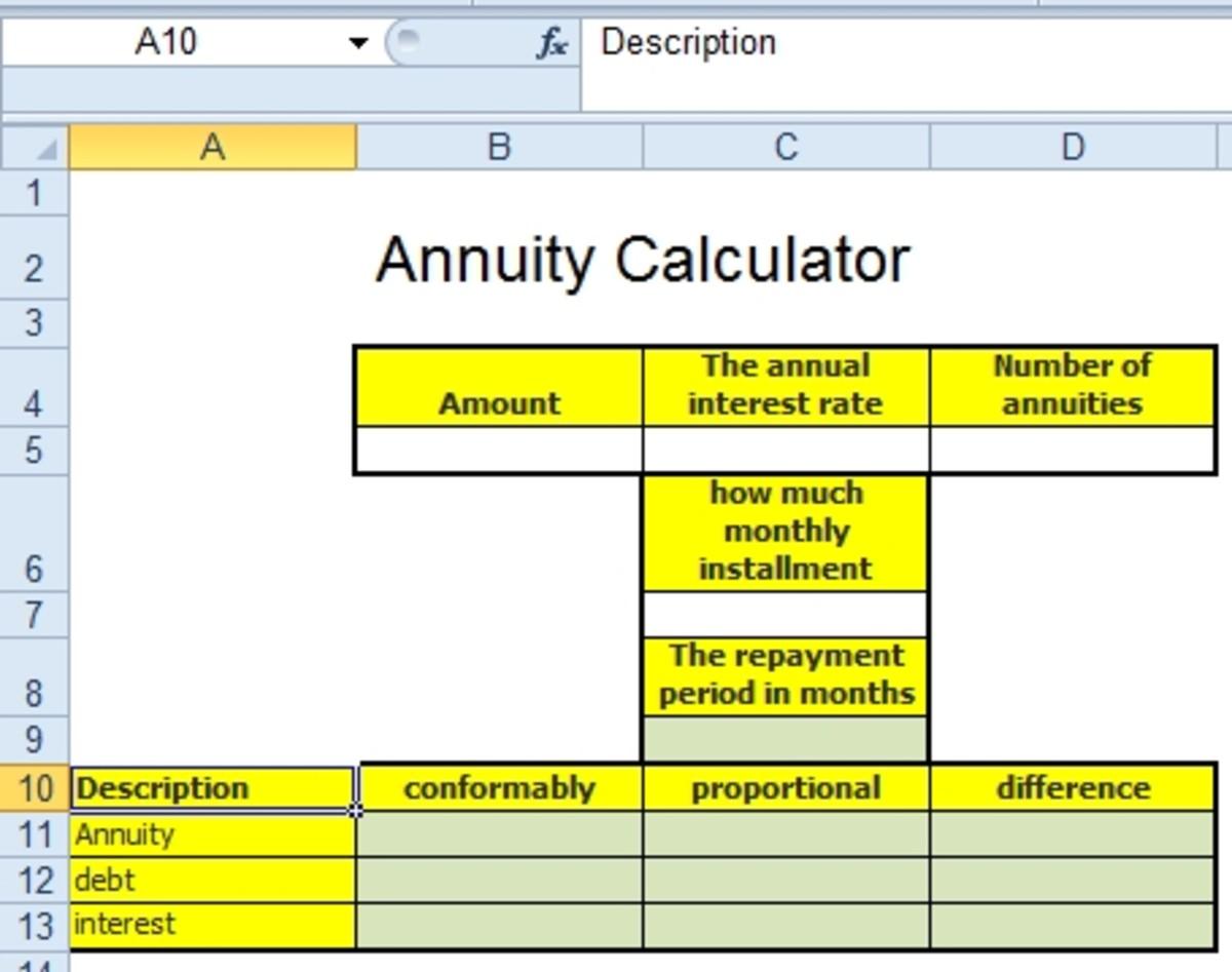 annuityf  loan repayment annuity formula