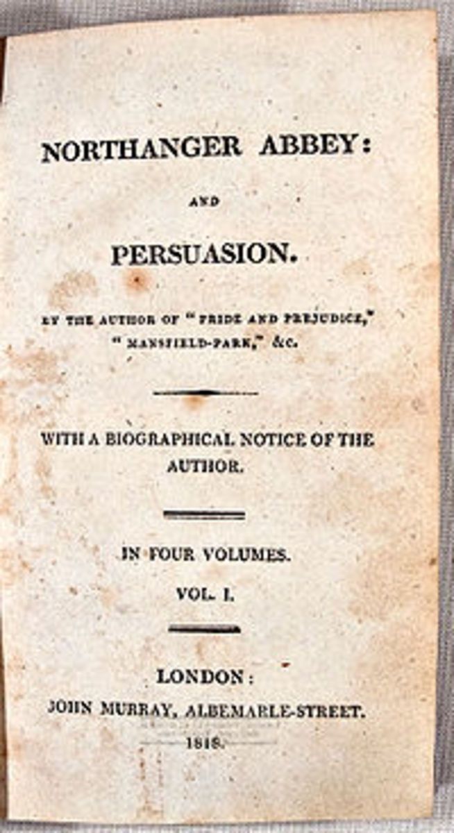 Title page of the original 1818 publication - published with Northanger Abbey