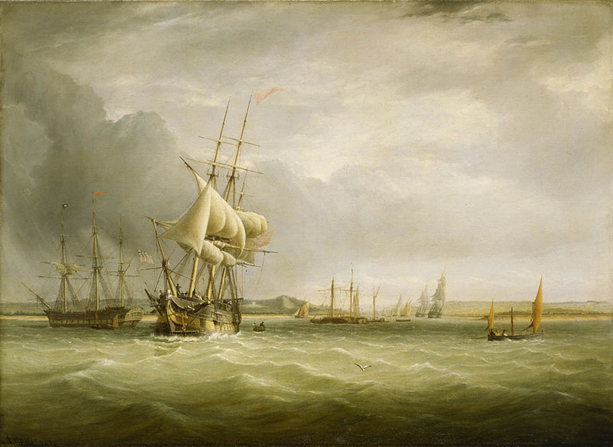 19th Century naval vessel - shipping in the Bristol Channel