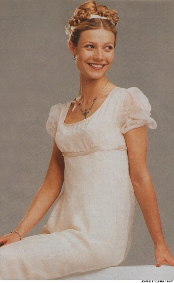 Emma Woodhouse - meddlesome little madam, brilliant played by American, Gwyneth Paltrow