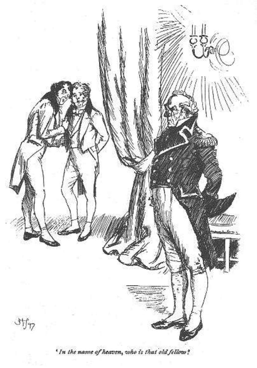 An illustration from an early edition of Persuasion