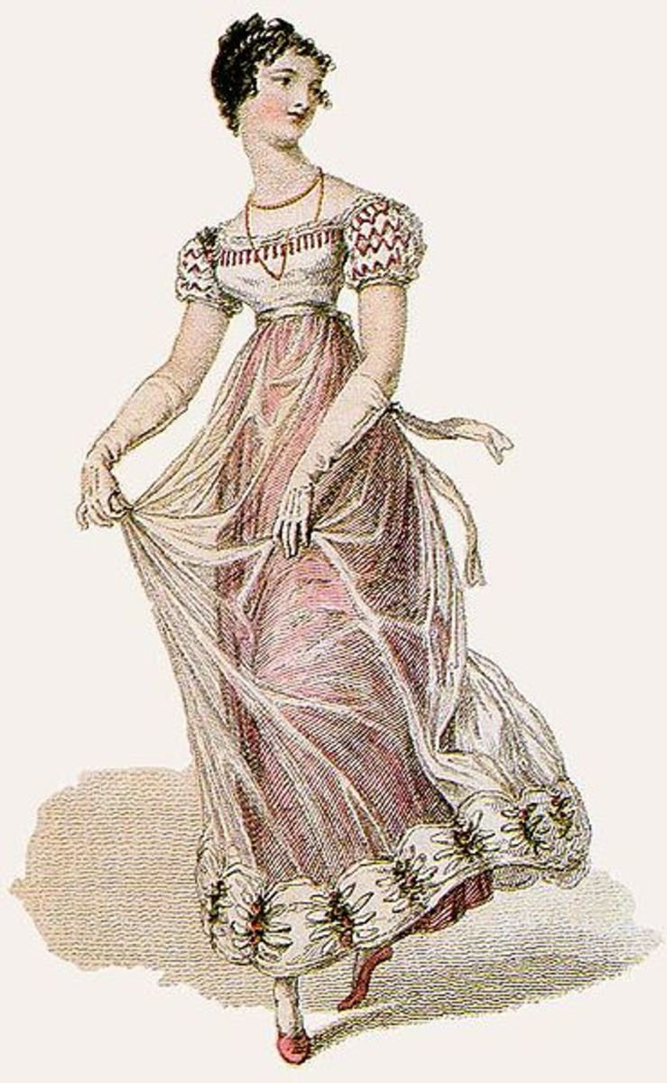 Regency style fashion