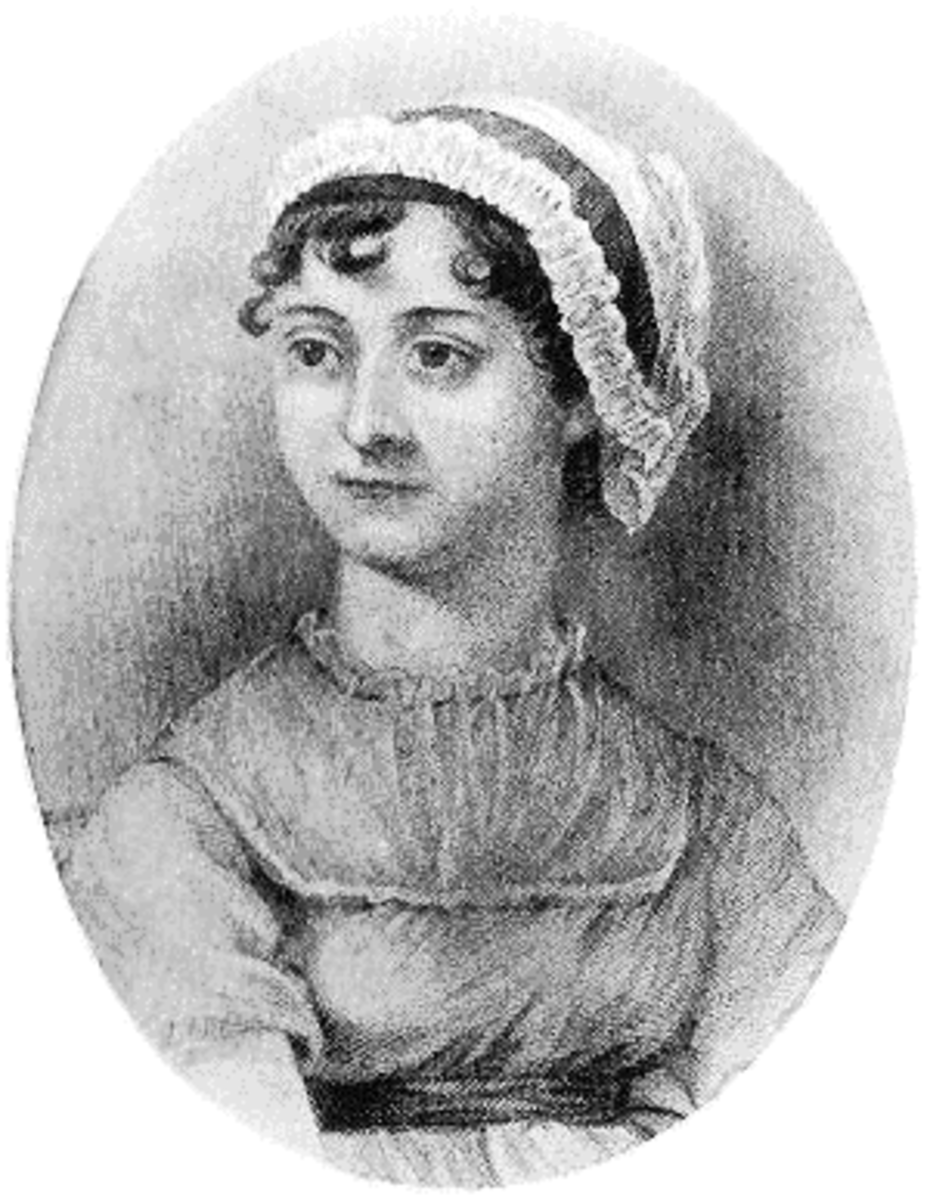 Victorian engraving of Jane Austen