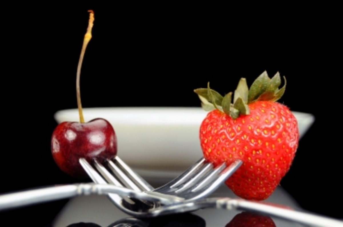 cherries and strawberries two summer fruits that are full of antioxidants in a face mask.