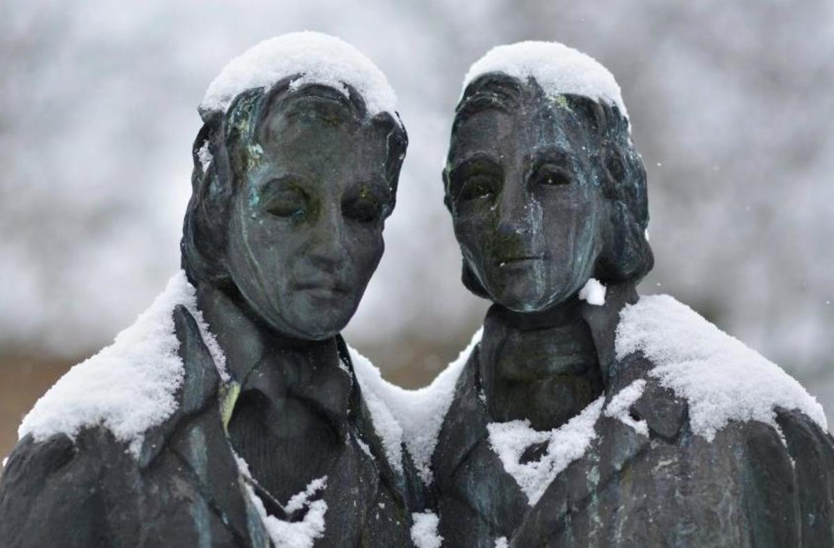 The Brothers Grimm statue in Kassel, Germany