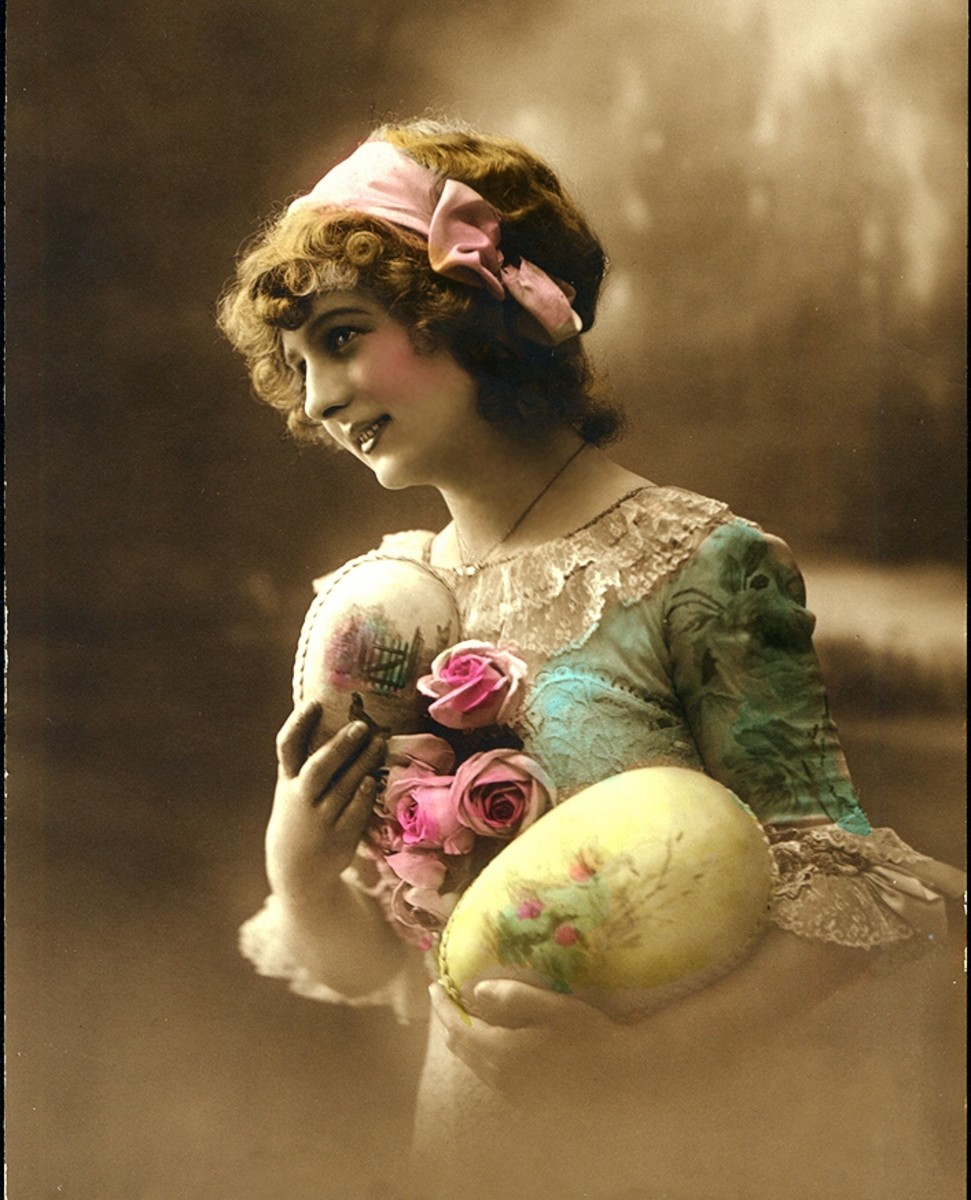 Vintage photograph, perhaps representative of Ostara.